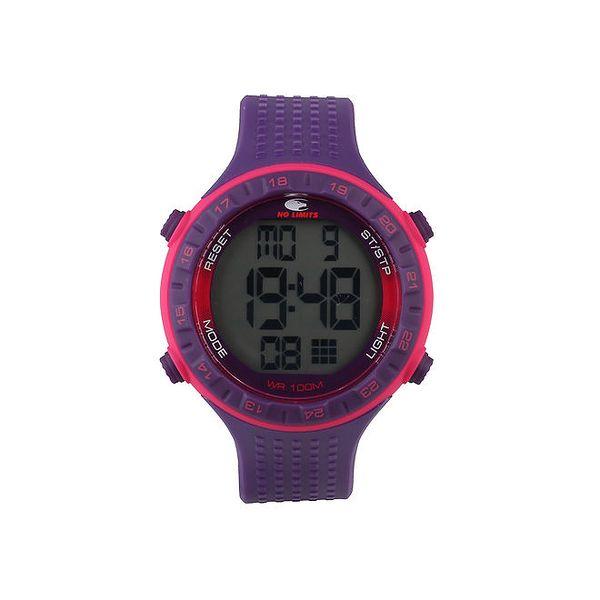 Fialovo-růžové digitální hodinky No Limits