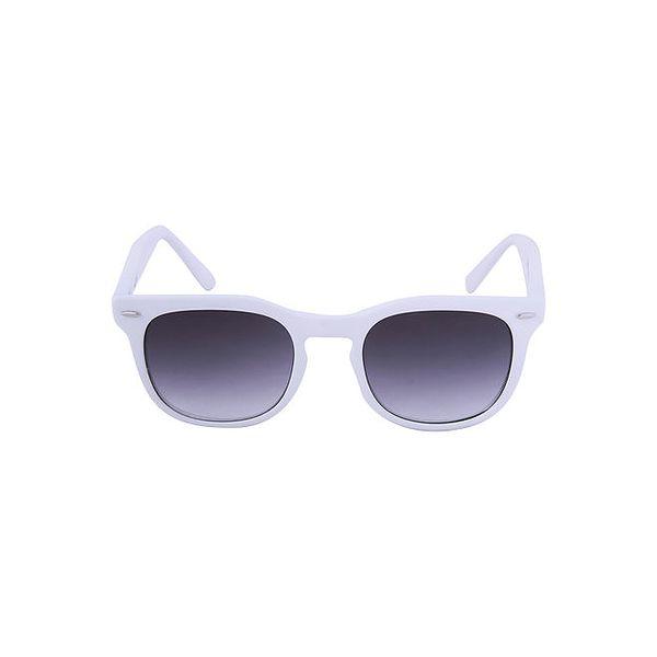 Bílé sluneční brýle s tónovanými černými skly No Limits