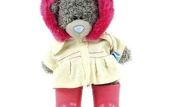 Me to You Medvídek 12cm stojící růžové holinky