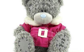 Me to You Medvídek 19cm v růžovém kabátku