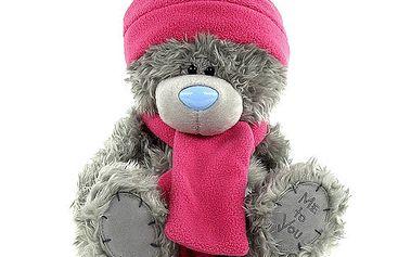 Me to You Medvídek 22cm růžová šála winter
