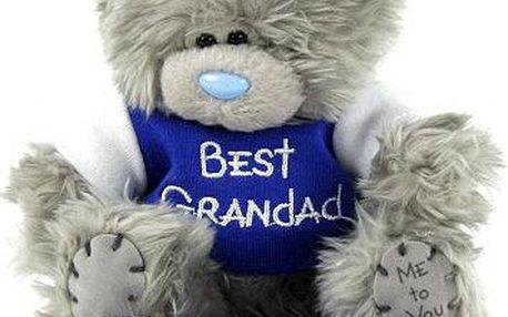 Medvídek Me to You Medvídek 11cm v tričku Best Grandad