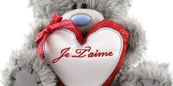 Medvídek Me to You Medvídek 18cm srdce JE TAIME