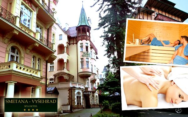6denní lázeňský pobyt v hotelu Smetana - Vyšehrad****