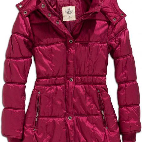Teplý dámský kabát Timeout 134086275PE10_4_aw S fialová
