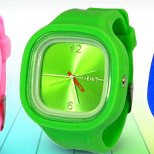 Stylové hodinky z maximálně příjemného silikonu: skvělé barvy, skvělá cena!