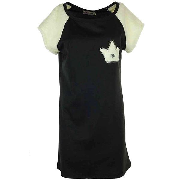 Dámské černo-bílé šaty s flaušovými detaily Hype