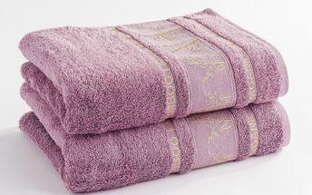 Ariatex ručník Bamboo life růžová, 50 x 90 cm, sada 2 ks