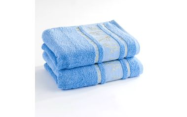Ariatex ručník Bamboo life modrá, 50 x 90 cm, sada 2 ks