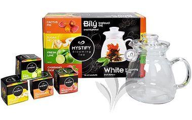 Velta Tea Mystify Blooming Tea Dárkový set s konvičkou - Black
