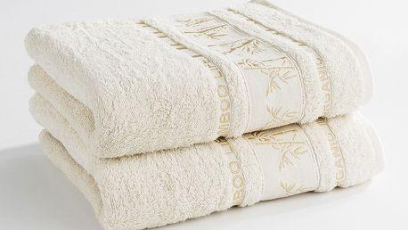 Ariatex ručník Bamboo life krémová, 50 x 90 cm, sada 2 ks, 2 ks 50 x 90
