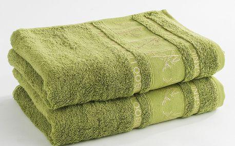 Ariatex ručník Bamboo life zelená, 50 x 90 cm, sada 2 ks