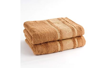 Ariatex ručník Bamboo life hnědá, 50 x 90 cm, sada 2 ks