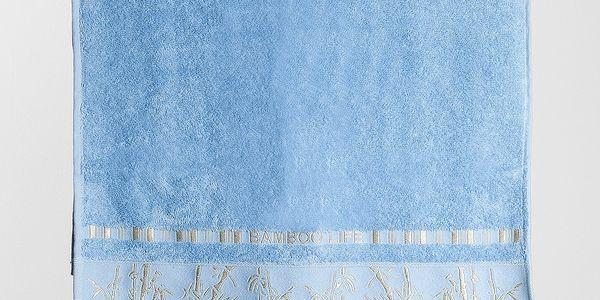 Ariatex osuška Bamboo life modrá, 70 x 140 cm
