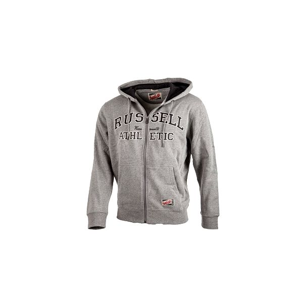 Pánská mikina s kapucí russell athletic zip through hoody s