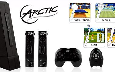 Herní konzole Arctic Cooling GC s ovladači a hrami