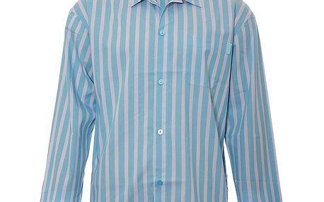 Pánská pyžamová košile Calvin Klein ve světle modré barvě