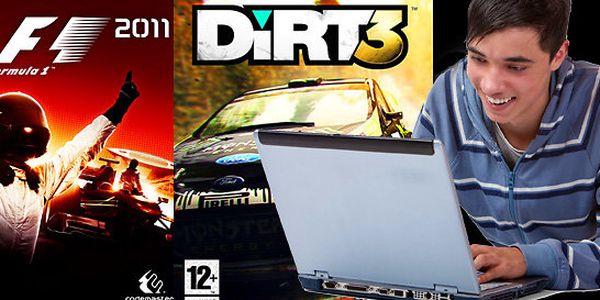 Dvě počítačové hry: F1 2011 a Dirt 3