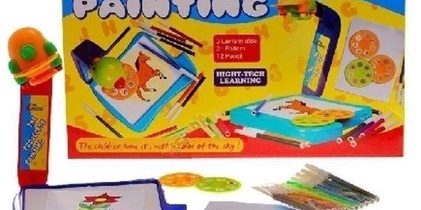 Tabule s projektorem na kreslení obrákzů + fixy, bezva darek pro vase deti !