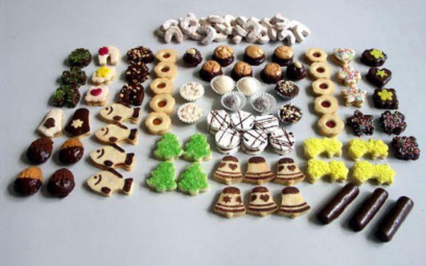 1kg tradičního cukroví za 265 Kč! Přes 20 druhů!