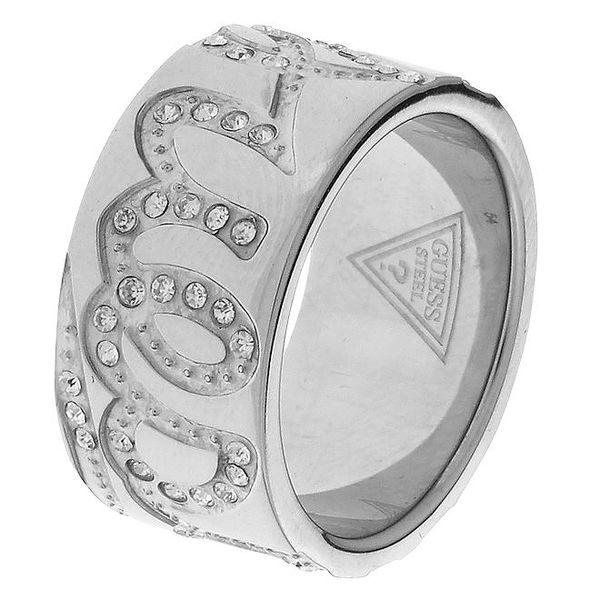 Dámský ocelový prsten Guess s kamínky