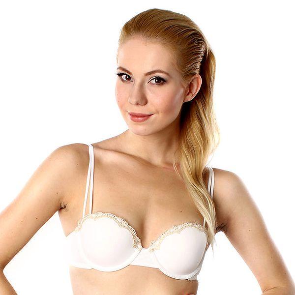 Dámská bílá push-up podprsenka s tělovou krajkou DKNY