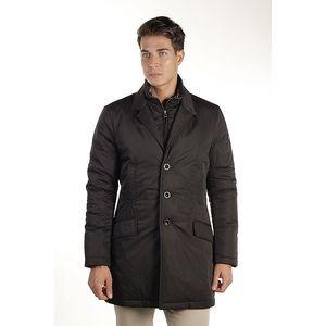 Pánský černý kabát Armata di Mare