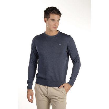 Pánský ocelově modrý svetr z merino vlny Armata di Mare