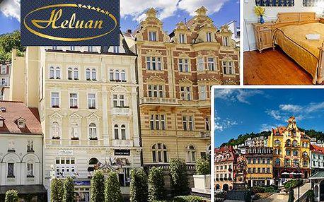 Lázně KARLOVY VARY – romantický pobyt v komfortním 4* hotelu Heluan pro 2 osoby s polopenzí v srdci světoznámého lázeňského města. Večeře v luxusní restauraci Karla IV., vstup do bazénového komplexu Alžbětiny Lázně, masáže a zábaly!