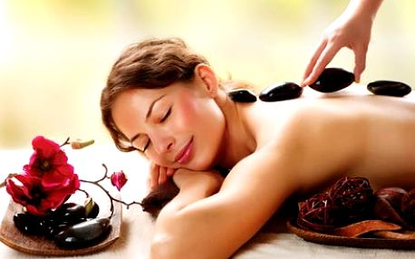 Hodinová celotělová masáž horkými lávovými kameny....