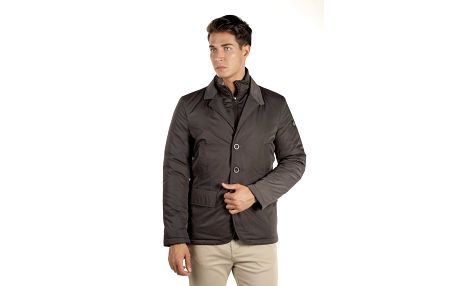 Pánský krátký antracitový kabátek Armata di Mare
