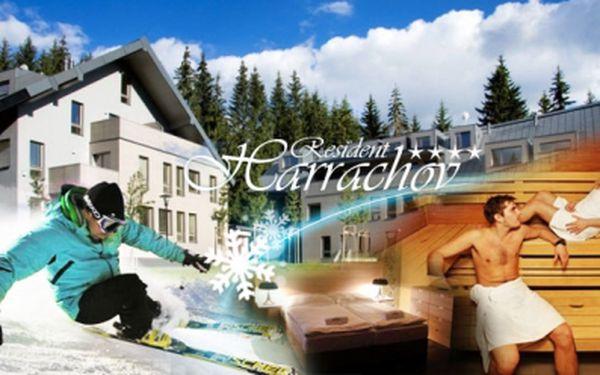 Ski & wellness dovolená na 6 dní pro 3 osoby v resident harrachov****! Luxusní ubytování, strava formou ultra all inclusive, spa balíček, masáže, fitness a wellness! Jen 15.890 kč! Skibus zdarma a slevy na skipasy!