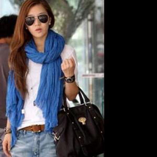 Lehký šátek různých barev a poštovné ZDARMA! - 33406084