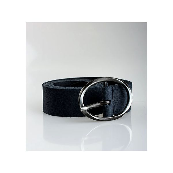 Tmavě modrý kožený pásek Derri