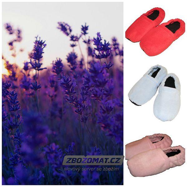 Levandulové nahřívací papuče - zahřejí studené nohy!