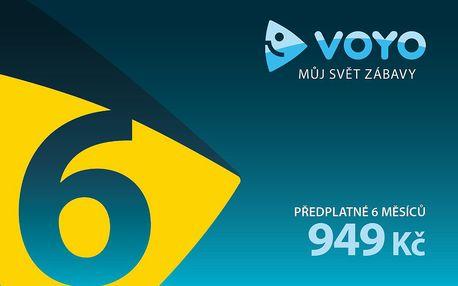 VOYO voucher - 6 měsíční předplatné - přístup k široké nabídce filmů, seriálů i sportovních přenosů
