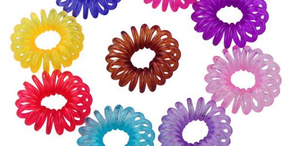 Barevné gumičky ve tvaru telefonního drátu - 10 kusů a poštovné ZDARMA! - 36101991