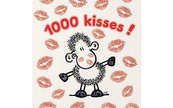 Poznámkový blok Sheepworld Poznámkový blok A6 prázdný s tužkou Kisses, Sheepworld
