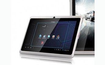 Multimediální Tablet ANGRY BIRDS s Androidem 4.2.2. S přední i zadní kamerou a duálním fotoaparátem, navíc získáte dárek redukci na modem a chránič obrazovky.