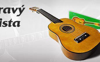 Dětská kytara, dřevěná