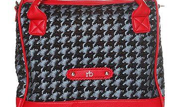 Červeno-černá kabelka Roccobarocco