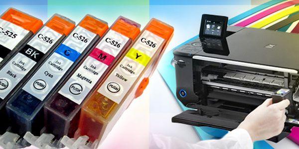 Sada 5 náplní do tiskáren Canon: tiskněte barevně i černobíle, ale hlavně levně!