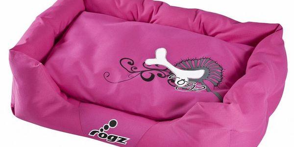 ROGZ kvalitní pelíšek Spice Pod Pink Bone vel.S s ohrádkou pro psy malých i velkých plemen