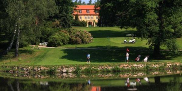 Vychutnejte si luxusní golf na Štiříně se slevou 50%. Green fee 18 jamek, oběd v hodnotě 120 Kč, vířivka 30 min., sauna 30 min. Kdykoliv v sezoně 2014 za 590 Kč.