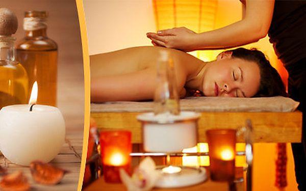 Regenerační aroma masáž zad a šíje v délce 40 minut + nahřátí zad rašelinovým polštářkem
