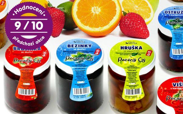 Pečené ovocné čaje – sada 12 nebo 24 sklenic