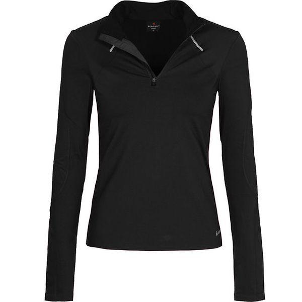 Dámské černé běžecké tričko Bergson