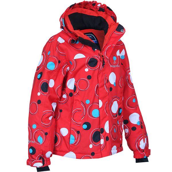 Dětská červená bunda s bublinami Bergson