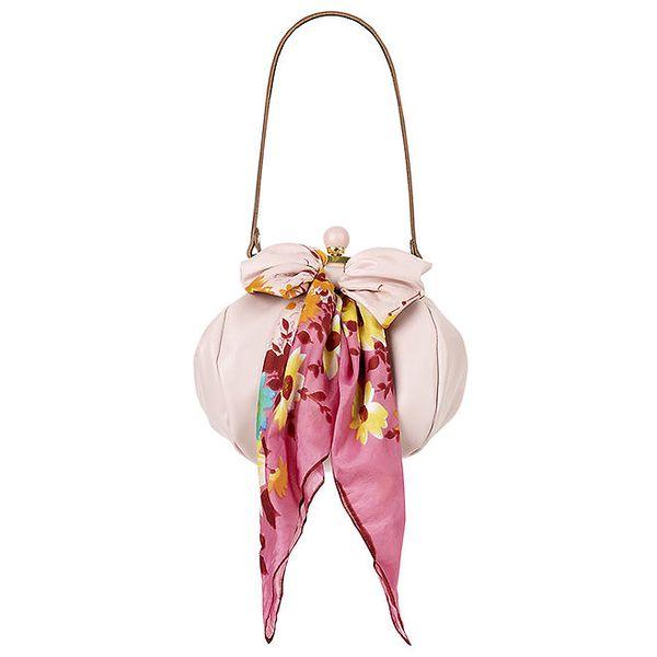 Dámská světle růžová kožená kabelka s šátkem Liedownithinkiloveyou