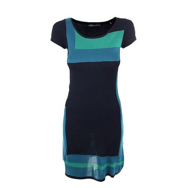 Dámské tyrkysovo-zelené úpletové šaty Emoi